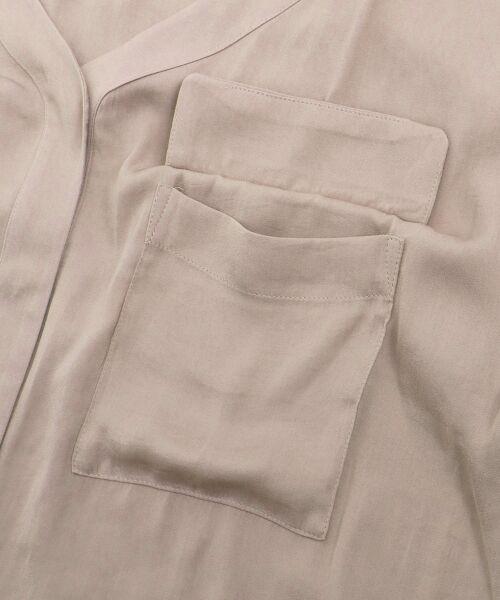 le.coeur blanc / ルクールブラン シャツ・ブラウス | フラップポケットVネックブラウス | 詳細5