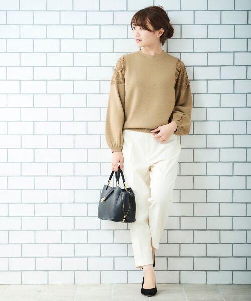 le.coeur blanc / ルクールブラン ニット・セーター   ショルダーレースニット   詳細15