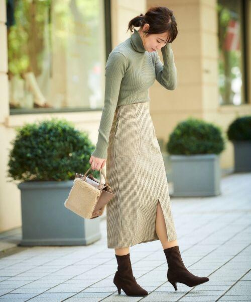 le.coeur blanc / ルクールブラン ミニ・ひざ丈スカート | ハイウエストポケットタイトスカート | 詳細15