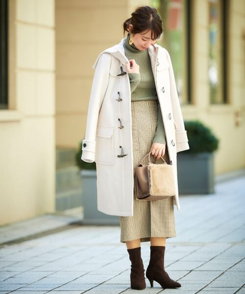 le.coeur blanc / ルクールブラン ミニ・ひざ丈スカート | ハイウエストポケットタイトスカート | 詳細16