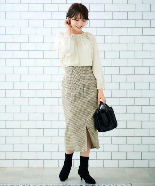 le.coeur blanc / ルクールブラン ミニ・ひざ丈スカート | ハイウエストポケットタイトスカート | 詳細17