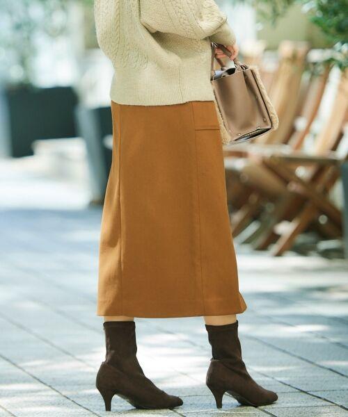 le.coeur blanc / ルクールブラン ミニ・ひざ丈スカート | ハイウエストポケットタイトスカート | 詳細22
