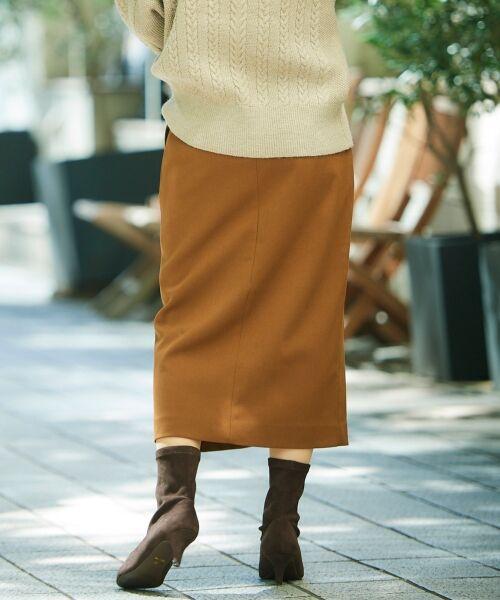 le.coeur blanc / ルクールブラン ミニ・ひざ丈スカート | ハイウエストポケットタイトスカート | 詳細23
