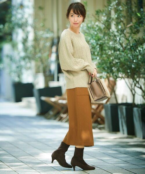 le.coeur blanc / ルクールブラン ミニ・ひざ丈スカート | ハイウエストポケットタイトスカート | 詳細25