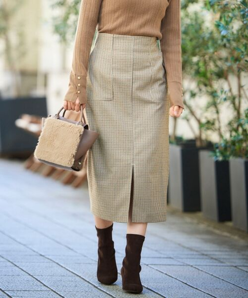 le.coeur blanc / ルクールブラン ミニ・ひざ丈スカート | ハイウエストポケットタイトスカート | 詳細8