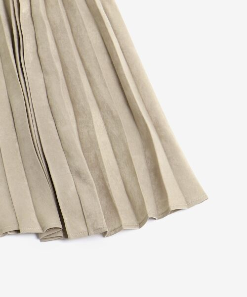 le.coeur blanc / ルクールブラン ロング・マキシ丈スカート | ピーチサテンアコーディオンプリーツスカート | 詳細3