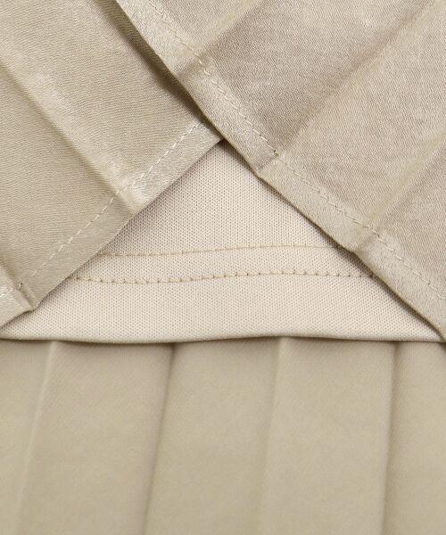 le.coeur blanc / ルクールブラン ロング・マキシ丈スカート | ピーチサテンアコーディオンプリーツスカート | 詳細4