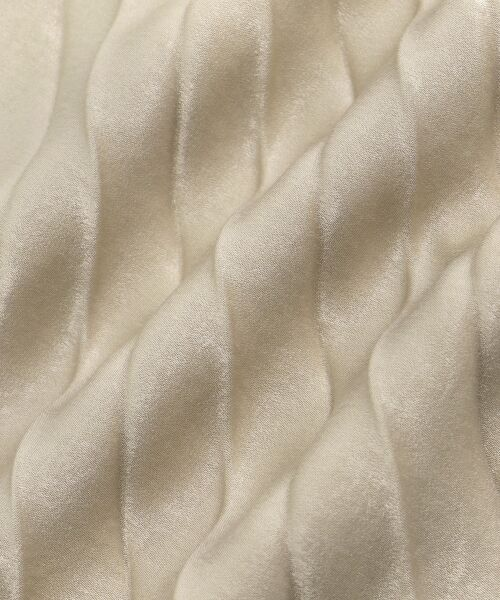 le.coeur blanc / ルクールブラン ロング・マキシ丈スカート | ピーチサテンアコーディオンプリーツスカート | 詳細5