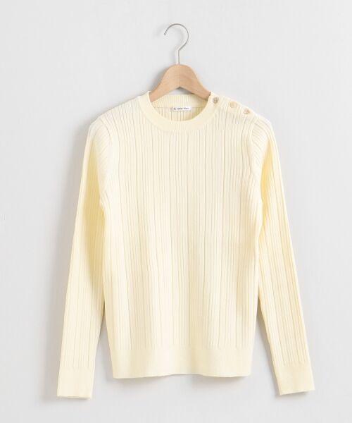 le.coeur blanc / ルクールブラン ニット・セーター | ランダムリブ肩ボタンクルーネックニット | 詳細15