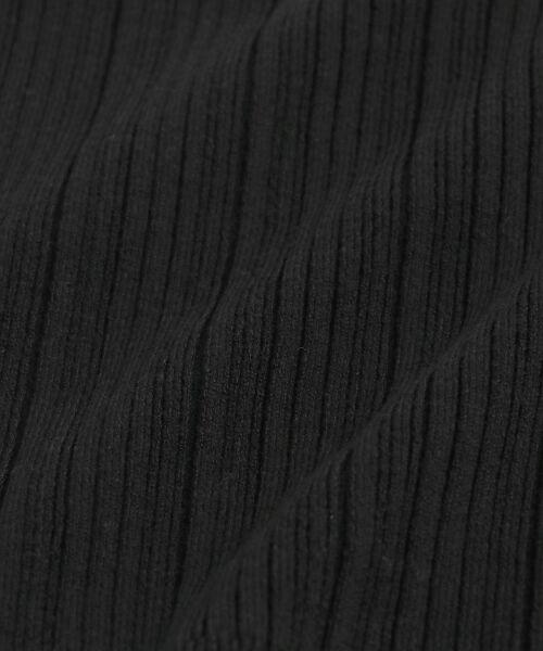 le.coeur blanc / ルクールブラン ニット・セーター | ランダムリブ肩ボタンクルーネックニット | 詳細5