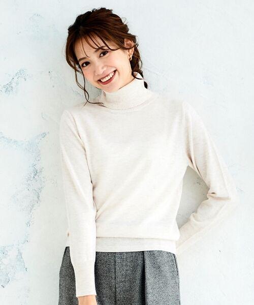 le.coeur blanc / ルクールブラン ニット・セーター   ハイゲージタートルネックプルオーバー   詳細14