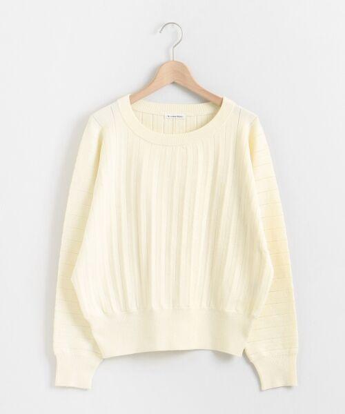 le.coeur blanc / ルクールブラン ニット・セーター | プリーツアミドルマンスリーブニット | 詳細30