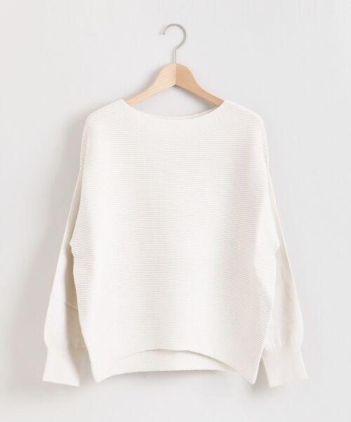 le.coeur blanc / ルクールブラン ニット・セーター | 横リブボートネックプルオーバー | 詳細13