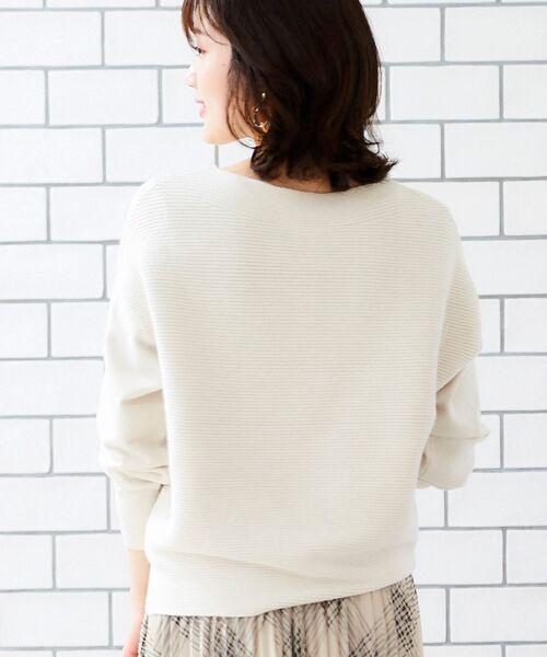 le.coeur blanc / ルクールブラン ニット・セーター | 横リブボートネックプルオーバー | 詳細7
