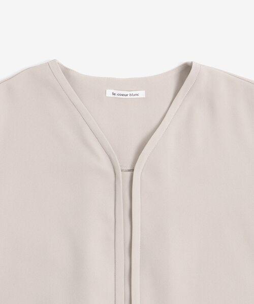 le.coeur blanc / ルクールブラン シャツ・ブラウス | フロントデザインVネックブラウス | 詳細2