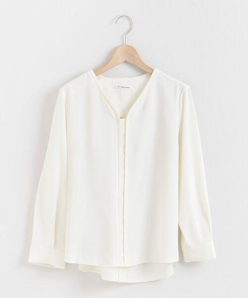 le.coeur blanc / ルクールブラン シャツ・ブラウス | フロントデザインVネックブラウス | 詳細6