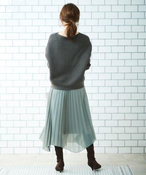le.coeur blanc / ルクールブラン ニット・セーター | 横リブボートネックニット | 詳細22