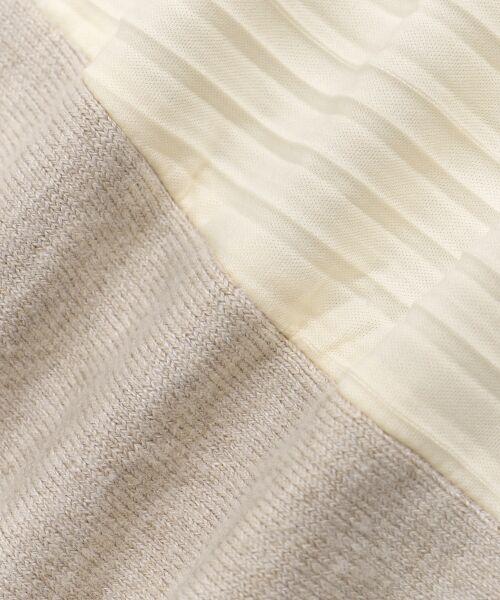 le.coeur blanc / ルクールブラン ロング・マキシ丈ワンピース | サイドプリーツニットワンピース | 詳細20