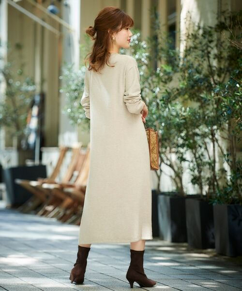le.coeur blanc / ルクールブラン ロング・マキシ丈ワンピース | サイドプリーツニットワンピース | 詳細5