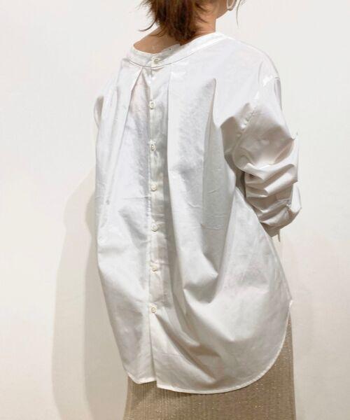 le.coeur blanc / ルクールブラン シャツ・ブラウス | タイプライターバックボタンシャツ(オフ)