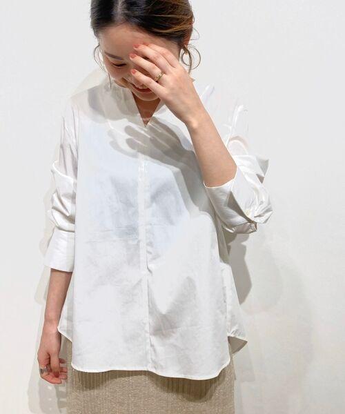 le.coeur blanc / ルクールブラン シャツ・ブラウス | タイプライターバックボタンシャツ | 詳細1