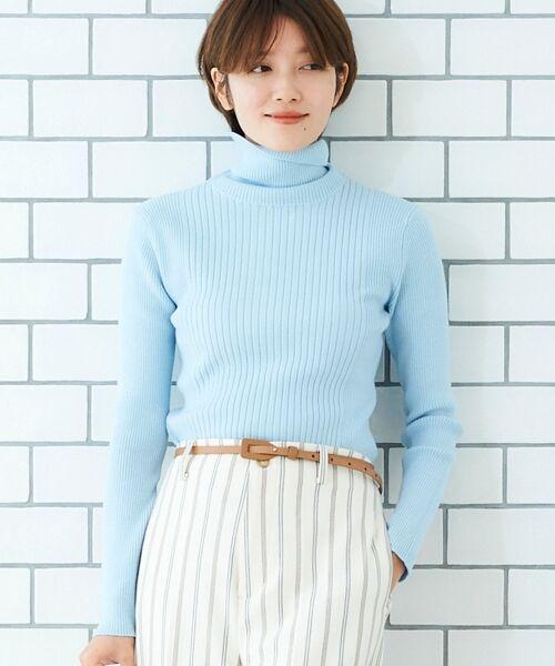 le.coeur blanc / ルクールブラン ニット・セーター   ランダムリブタートルニット   詳細11