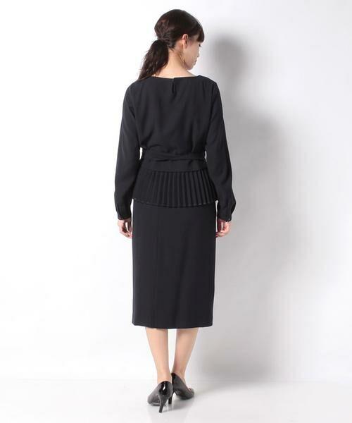 Leilian / レリアン セットアップ | ペプラムデザイン入りスーツ | 詳細2