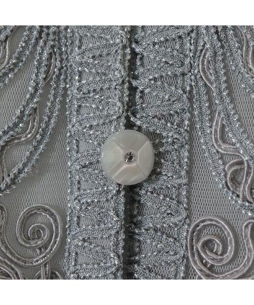 Liliane Burty / リリアンビューティ ノーカラージャケット | 【アンサンブル対応】 チュール刺繍 ボレロジャケット | 詳細5