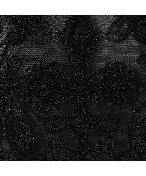 Liliane Burty / リリアンビューティ ノーカラージャケット | 【アンサンブル対応】 チュール刺繍 ボレロジャケット | 詳細11