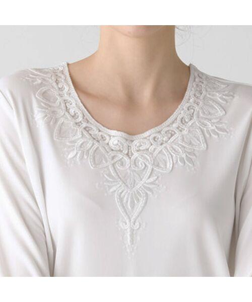 Liliane Burty / リリアンビューティ カットソー | スパンコール刺繍加工 エレガンスTシャツ | 詳細2