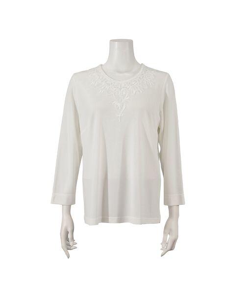 Liliane Burty / リリアンビューティ カットソー | スパンコール刺繍加工 エレガンスTシャツ | 詳細3