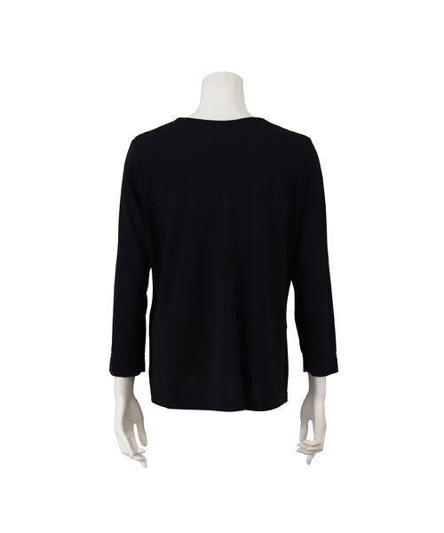 Liliane Burty / リリアンビューティ カットソー | スパンコール刺繍加工 エレガンスTシャツ | 詳細11