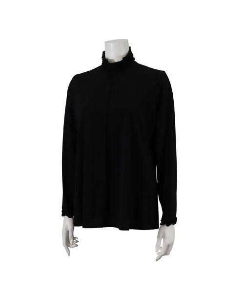 Liliane Burty / リリアンビューティ カットソー | パウダーチュール ハイネックTシャツ(ブラック)