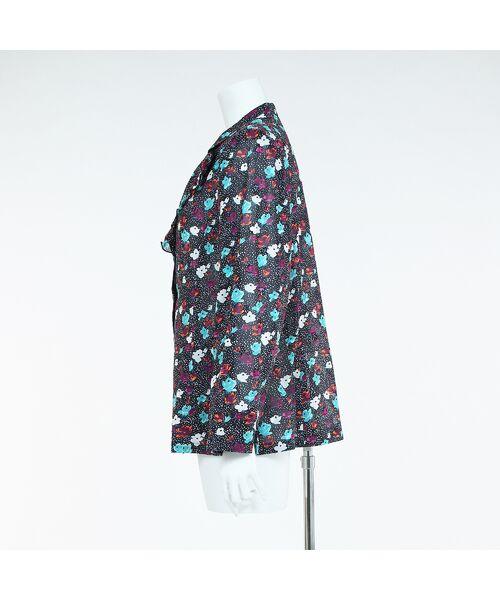 Liliane Burty / リリアンビューティ テーラードジャケット | 【Selection】 海島綿 カットジャカード小花プリント フリルジャケット | 詳細7