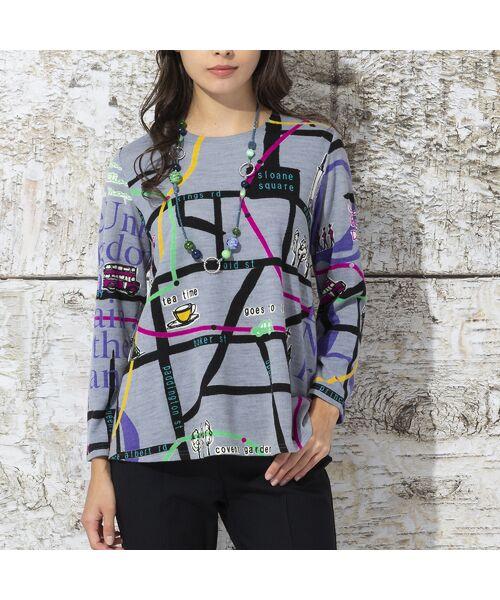 Liliane Burty / リリアンビューティ カットソー | ウォーム素材 ロンドンプリント プルオーバーTシャツ | 詳細3