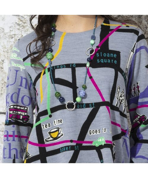 Liliane Burty / リリアンビューティ カットソー | ウォーム素材 ロンドンプリント プルオーバーTシャツ | 詳細6