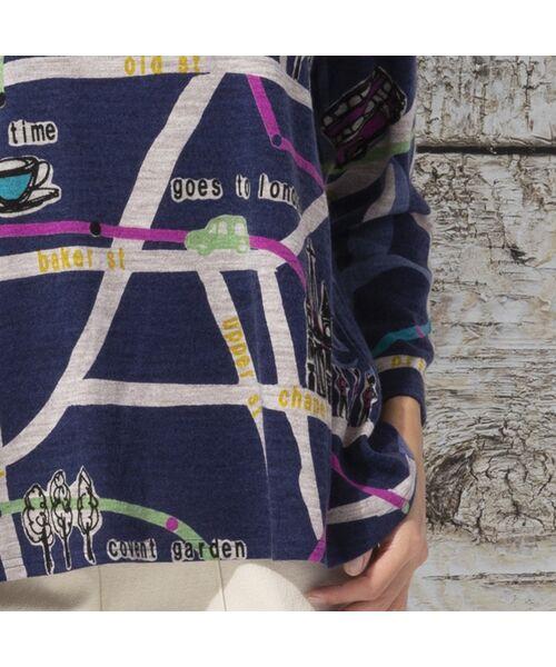 Liliane Burty / リリアンビューティ カットソー | ウォーム素材 ロンドンプリント プルオーバーTシャツ | 詳細11
