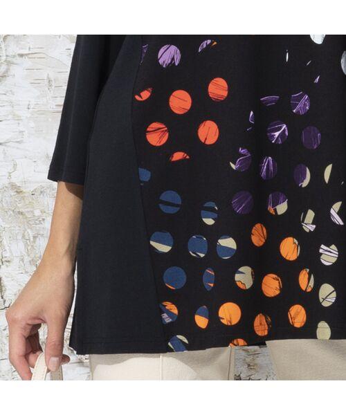 Liliane Burty / リリアンビューティ カットソー   ドイツ製ドットプリント チュニックTシャツ   詳細7