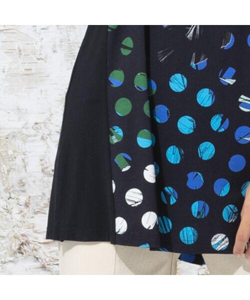 Liliane Burty / リリアンビューティ カットソー   ドイツ製ドットプリント チュニックTシャツ   詳細15