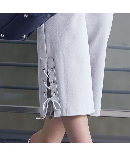 Liliane Burty / リリアンビューティ ショート・ハーフ・半端丈パンツ   裾レースアップ クロップドパンツ   詳細9