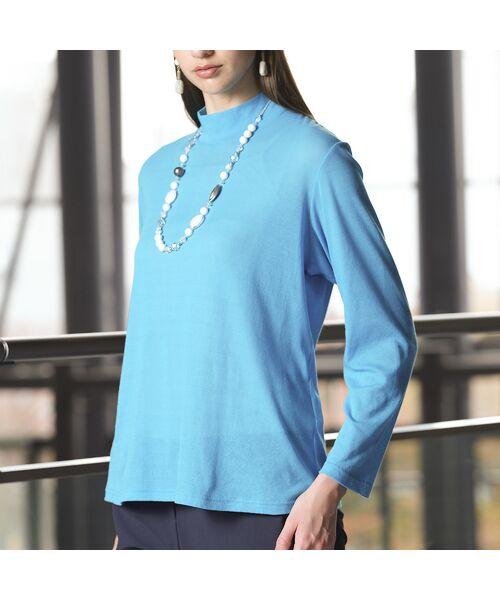 Liliane Burty / リリアンビューティ カットソー | 超強撚シフォン ハイネックTシャツ | 詳細11