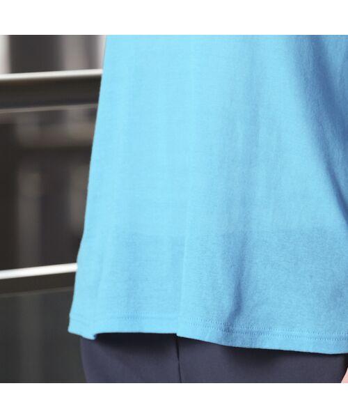 Liliane Burty / リリアンビューティ カットソー | 超強撚シフォン ハイネックTシャツ | 詳細14