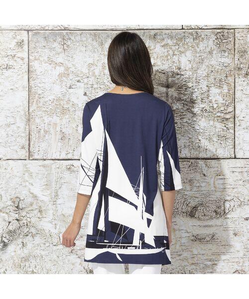 Liliane Burty / リリアンビューティ カットソー | ドイツ製ビックヨットプリント チュニックTシャツ | 詳細3