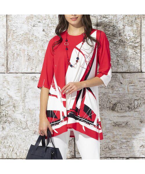 Liliane Burty / リリアンビューティ カットソー | ドイツ製ビックヨットプリント チュニックTシャツ | 詳細7