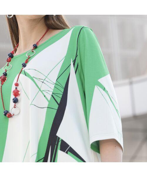 Liliane Burty / リリアンビューティ カットソー | ドイツ製ビックヨットプリント チュニックTシャツ | 詳細11