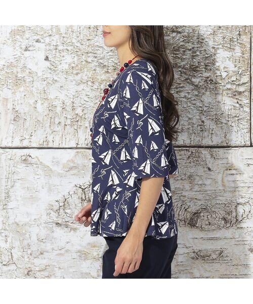Liliane Burty / リリアンビューティ カットソー | ドイツ製ミニヨットプリント Tシャツ | 詳細2