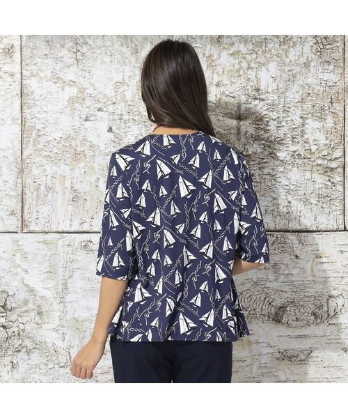 Liliane Burty / リリアンビューティ カットソー | ドイツ製ミニヨットプリント Tシャツ | 詳細3