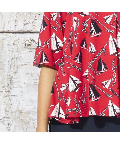 Liliane Burty / リリアンビューティ カットソー | ドイツ製ミニヨットプリント Tシャツ | 詳細9