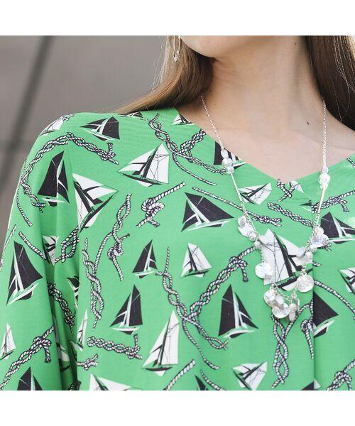 Liliane Burty / リリアンビューティ カットソー | ドイツ製ミニヨットプリント Tシャツ | 詳細12