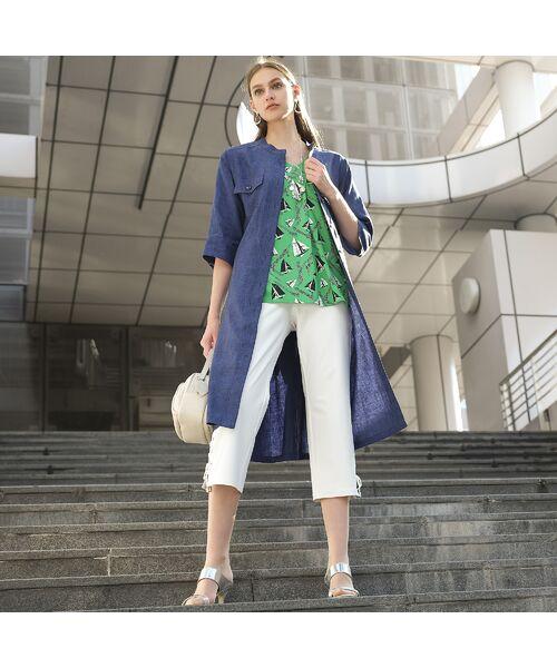 Liliane Burty / リリアンビューティ カットソー | ドイツ製ミニヨットプリント Tシャツ | 詳細15